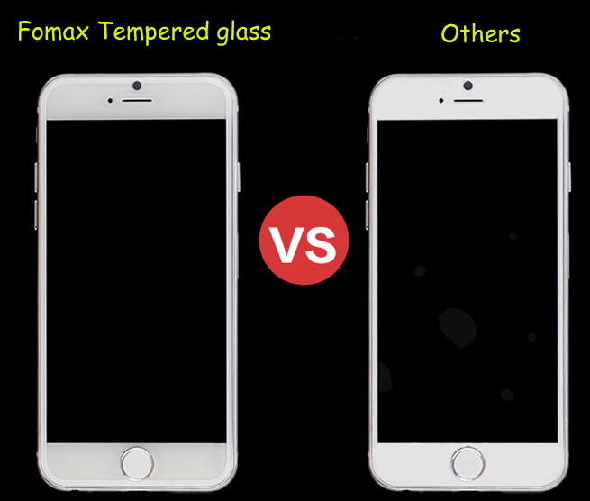 Free air bubble from fomax tempered glass