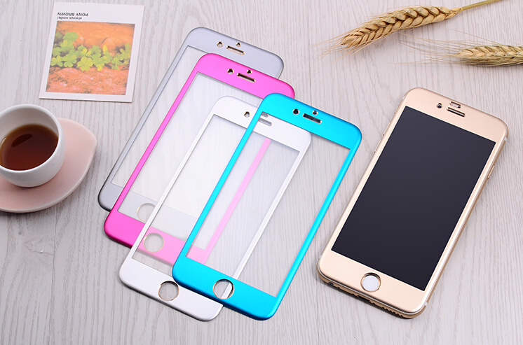 titanium full cover alloy tempered glass screen protector china manufacturer iphone6