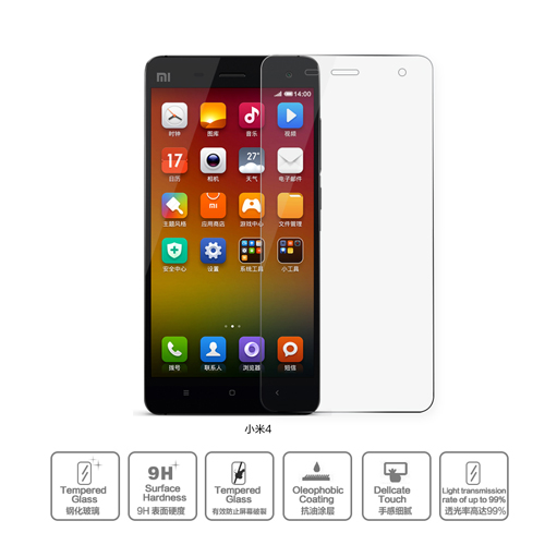 fomax china supplier tempered glass for xiaomi 4 mi4