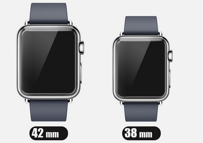 apple watch 42mm and 38mm