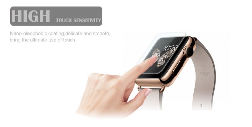 high touch sensitivity tempered glass fomax for iwatch