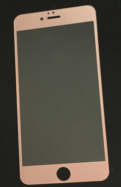 rose gold tempered glass for iPhone6