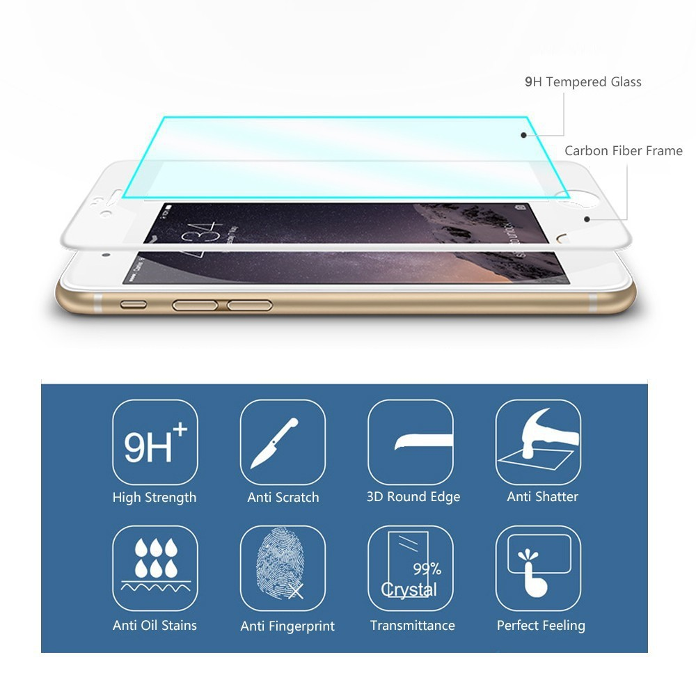 tempered glass 3D carbon fiber for iphone6s