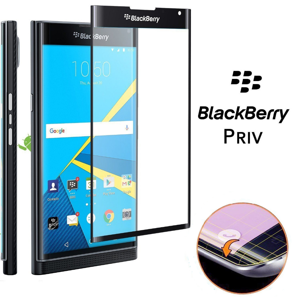blackberry priv 3d curved tempered glass from fomax