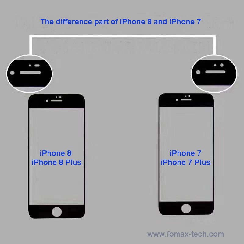 iPhone8 difference from iPhone 7