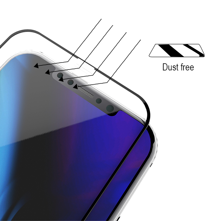 anti dust iphone x tempered glass