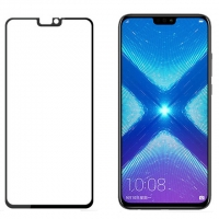 Honor 8X tempered glass full screen protector -Black