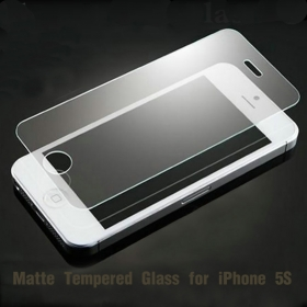Anti glare tempered glass iphone 5S 0.3mm Screen Protector Film