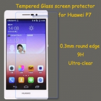 for Huawei P7 tempered glass screen protector 0.3mm round edge