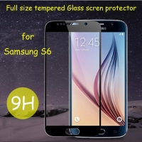 Galaxy S6 Full cover screen protector 9H 2.5D tempered glass for samsung S6