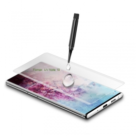 Samsung Note 10 UV liquid tempered glass curved screen protector