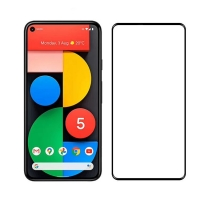 Google Pixel 5 tempered glass full screen protector Black