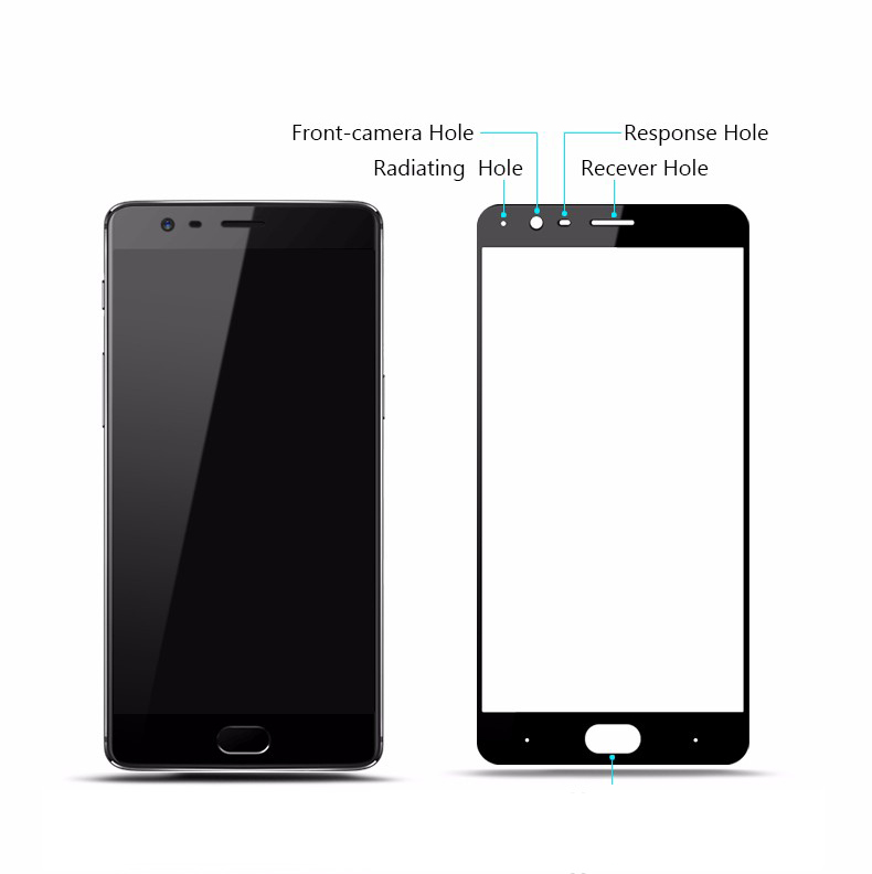 Oneplus 3 curved tempered glass screen protector