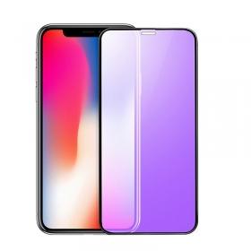 Full glue anti blue light tempered glass screen guard for iPhone Xr