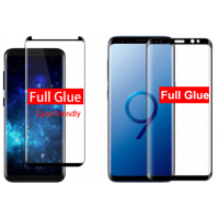 HD premium full adhesive tempered glass Samsung Galaxy S9 full glue coverage case friendly glass protector