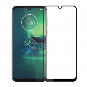 Moto G8 Plus Tempered Glass Screen Protector Full Coverage Full Adhesive