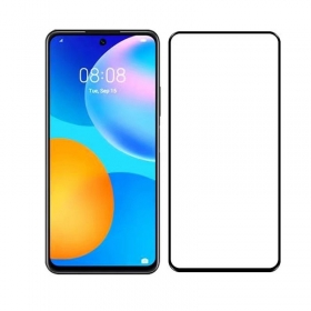 Huawei P smart 2021 full screen cover tempered glass screen protector Black