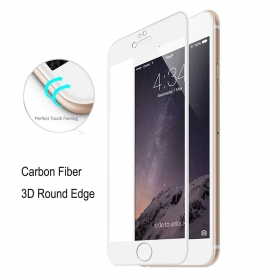 iPhone 6S Carbon Fiber 3D Round Edge Screen Protector Tempered Glass