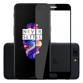 Full adhesive tempered glass curved screen protector for OnePlus 5