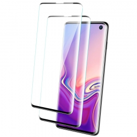 Samsung Galaxy S10 Tempered Glass 3D Curved Edge Screen Protector Working for Ultrasonic Fingerprint