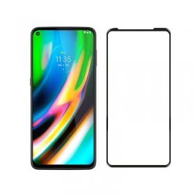 Motorola Moto G9 Plus tempered glass screen film Black