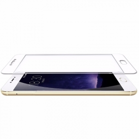 meizu mx6 2.5D round edge fully cover Tempered Glass Screen Protector