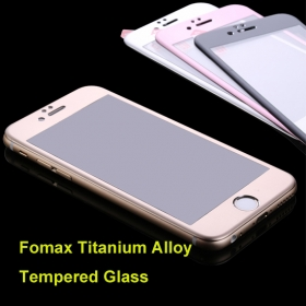 0.3mm 2.5d Titanium Full Cover Alloy Film Guard Screen Protector Tempered Glass for iPhone6