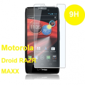0.3mm round edge tempered glass for Motorola Maxx