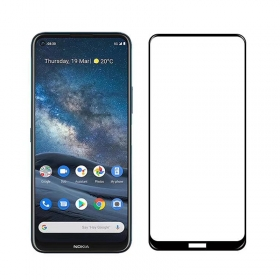 Nokia 8.3 tempered glass full coverage protector Black
