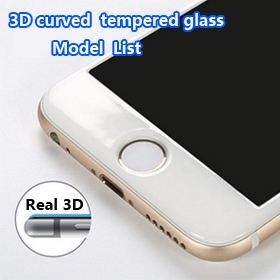 3D curved tempered glass list
